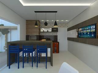 Paredes y pisos de estilo moderno de Karoline Gesser Leal Interiores Moderno
