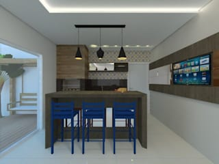 Salas de estilo moderno de Karoline Gesser Leal Interiores Moderno
