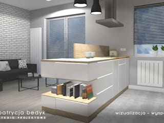 Osiedle Kruszewskiego - mieszkanie młodej rodziny: styl , w kategorii  zaprojektowany przez Patrycja Bedyk Studio Projektowe