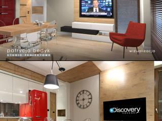 Osiedle Mozaika - mieszkanie dla młodych. : styl , w kategorii  zaprojektowany przez Patrycja Bedyk Studio Projektowe