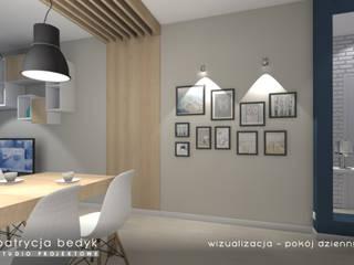 Osiedle Arte Nova - mieszkanie dwupokojowe: styl , w kategorii  zaprojektowany przez Patrycja Bedyk Studio Projektowe