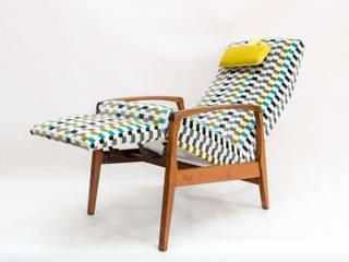 """Fotel """"Tetris"""" od Deca Eklektyczny"""