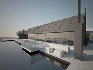 Vista da piscina: Piscinas modernas por Mário Lima - arquitecto