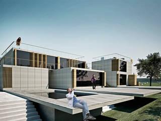 Vista sob a piscina: Piscinas modernas por Mário Lima - arquitecto