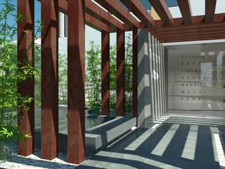 Showroom Microcrete Lojas e Espaços comerciais minimalistas por OFICINA - COLECTIVO DE IDEIAS, LDA Minimalista