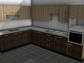 Diseño y construcción de mobiliario cocina cubierta de piedra de ARQUITECTURA E INGENIERIA PUNTAL LIMITADA Ecléctico