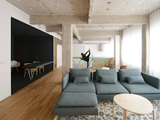 Living room by Garmendia Cordero arquitectos, Industrial