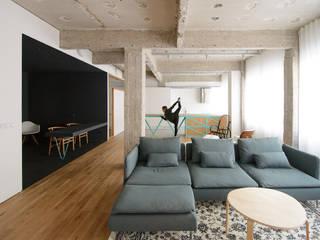 Industrial style living room by Garmendia Cordero arquitectos Industrial