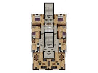 MAHAL MİMARLIK – Sahrayı Cedid Bina Yenileme Mimari Projesi:  tarz Ofis Alanları