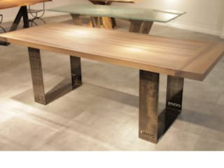 Stół na giętych nogach Alfa: styl , w kategorii  zaprojektowany przez Art Loft