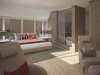 Inside Home Unipessoal LDA. Modern style bedroom Multicolored