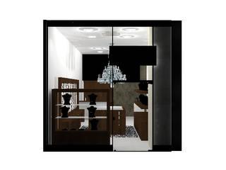 Projeto Arquitetônico loja Francisca Ca: Lojas e imóveis comerciais  por Thamiris Albertini Arquitetura e Interiores