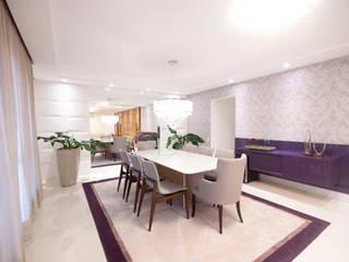 Apartamento descontraído - São Bernardo do Campo, SP Haus Brasil Arquitetura e Interiores Salas de jantar ecléticas MDF Roxo/violeta