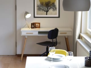 Studio Dooie Modern Study Room and Home Office Yellow