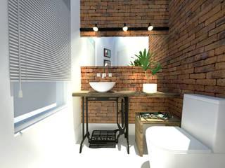 Baños de estilo rústico de Andressa Cobucci Estúdio Rústico