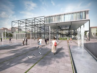 FLORENCE CULTURAL CENTRE, ITALY (premio mención) Centros de exposiciones de estilo moderno de Mauricio Morra Arquitectos Moderno