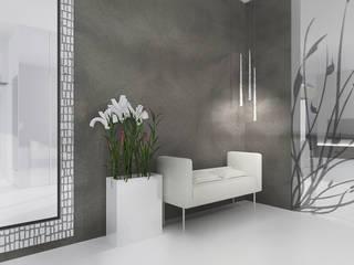 Dom w Rąbieniu: styl , w kategorii Korytarz, przedpokój zaprojektowany przez JSK STUDIO