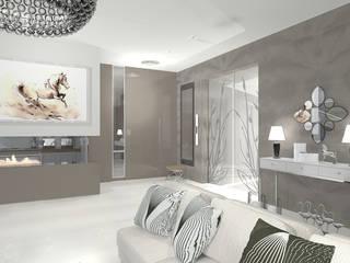 Dom w Rąbieniu: styl , w kategorii Salon zaprojektowany przez JSK STUDIO