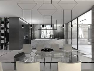 Dom na skraju Lasu: styl , w kategorii Jadalnia zaprojektowany przez JSK STUDIO