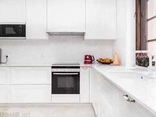 GRANMAR Borowa Góra - granit, marmur, konglomerat kwarcowy Cocinas de estilo clásico Cuarzo Blanco