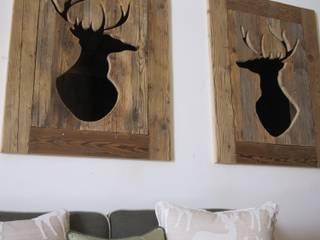 Phòng khách phong cách mộc mạc bởi Archigiano Mộc mạc