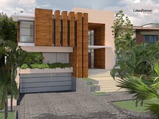 CASA T C Casas modernas de Cabas/Garzon Arquitectos Moderno