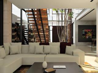 CASA T C Salas modernas de Cabas/Garzon Arquitectos Moderno