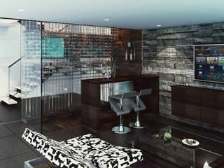 Salon moderne par Cabas/Garzon Arquitectos Moderne