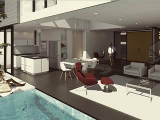 Balcon, Veranda & Terrasse modernes par Cabas/Garzon Arquitectos Moderne
