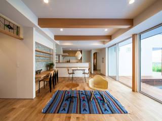 STaD(株式会社鈴木貴博建築設計事務所) Scandinavian style living room
