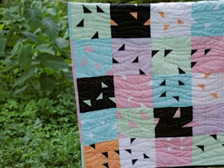 narzuta patchwork scrappy: styl , w kategorii  zaprojektowany przez Dom Artystyczny