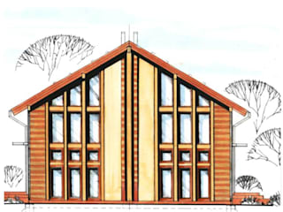 Neubau Einfamilienhaus: modern  von Architektur & Design, Köstler & Placek,Modern
