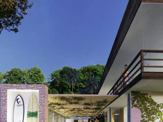 Native Surf Hostel Casas modernas de O11ceStudio Moderno