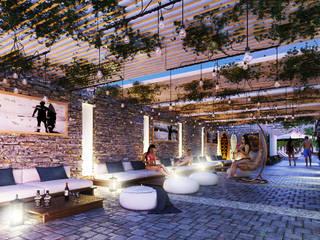 Native Surf Hostel Salas modernas de O11ceStudio Moderno