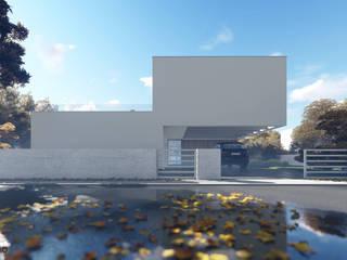 Elewacja frontowa: styl minimalistyczne, w kategorii Domy zaprojektowany przez 2L_studio