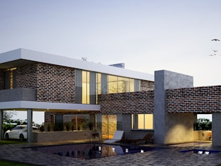 Casas modernas de O11ceStudio Moderno