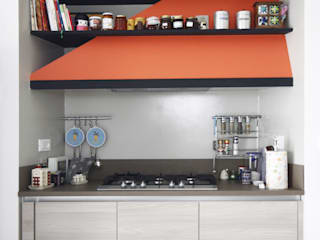 Andrea Orioli Modern kitchen Orange