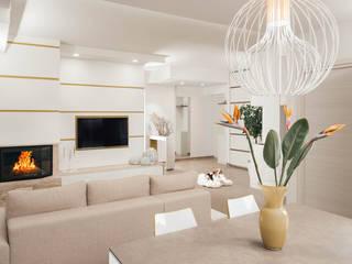 Casa N+V Sala da pranzo moderna di manuarino architettura design comunicazione Moderno