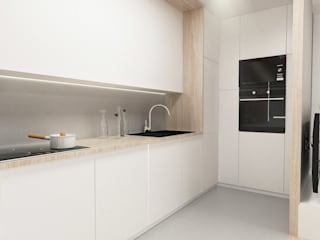 Cozinhas escandinavas por FOORMA Pracownia Architektury Wnętrz Escandinavo