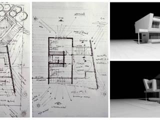 Síntesis de proceso de diseño - Croquis preliminares:  de estilo  por CASTELLINO ARQUITECTOS (+)