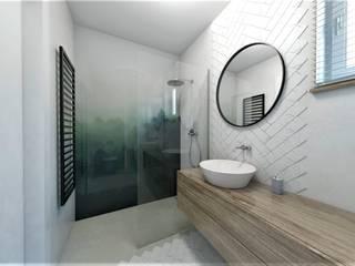 ŁAZIENKA: styl , w kategorii Łazienka zaprojektowany przez atoato
