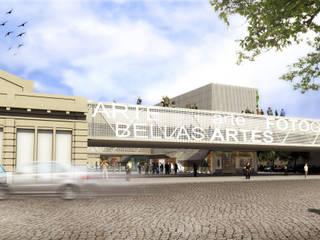 CONCURSO EX MERCADO MUNICIPAL DE RAFAELA (segundo premio - primera mención): Centros de exposiciones de estilo  por Mauricio Morra Arquitectos,Moderno