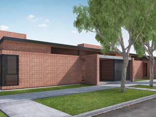 VIVIENDAS DE LADRILLO: Casas de estilo  por Mauricio Morra Arquitectos,Moderno