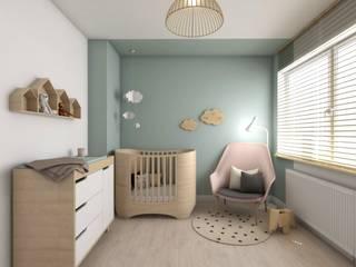 Pokój dziecka: styl , w kategorii Pokój dziecięcy zaprojektowany przez atoato