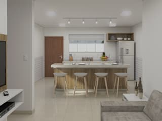 Filipe Castro Arquitetura | Design Kitchen MDF White