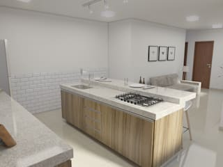 Filipe Castro Arquitetura | Design Kitchen Granite White