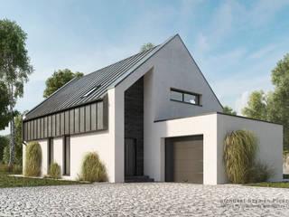 Rumah Modern Oleh architekt SZYMON PLESZCZAK - ARCHI PL PRACOWNIA ARCHITEKTURY I WNĘTRZ Modern