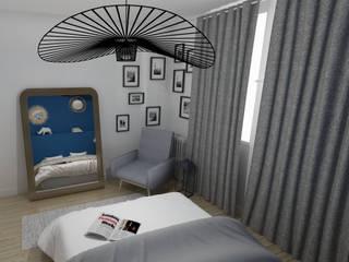 Rénovation d'un appartement toulousain des années 60 Chambre moderne par ML architecture d'intérieur et décoration Moderne