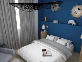 Rénovation d'un appartement toulousain des années 60: Chambre de style  par ML architecture d'intérieur et décoration