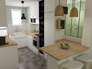 現代廚房設計點子、靈感&圖片 根據 ML architecture d'intérieur et décoration 現代風